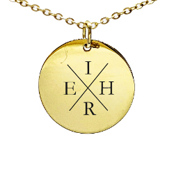 KRUH - Gold Circle Pendant